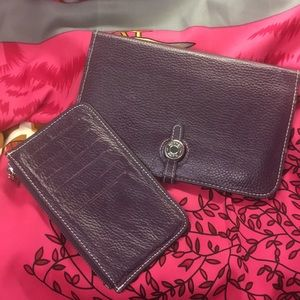 HERMES DROGO 2 pc leather wallet good condition...